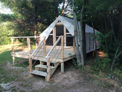 Glamping tent