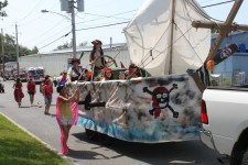 Pirate boat in parade