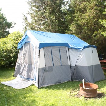 Tent Pitched at a Campground