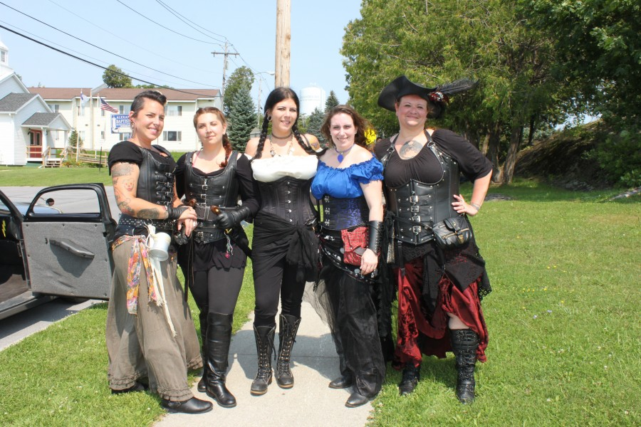 Several women in pirate costumes