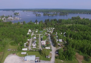 Arial view of the park